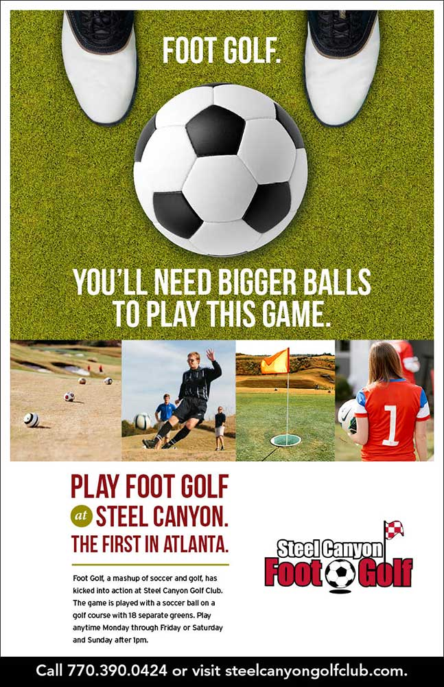 Steel Canyon Foot Golf Promotion